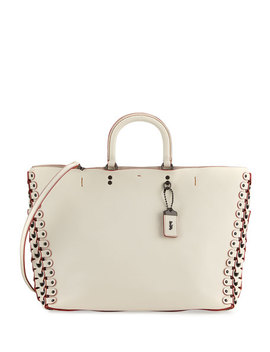 Rogue Leather Tote Bag, White by Neiman Marcus