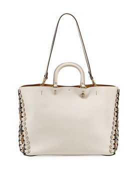 Rogue Colorblock Linked Tote Bag, White by Neiman Marcus
