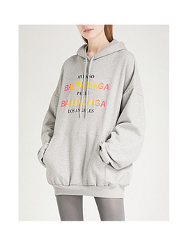 Milano Cotton Jersey Hoody by Balenciaga
