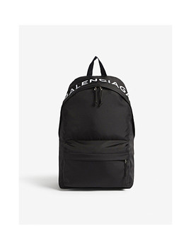 Wheel Logo Nylon Backpack by Balenciaga