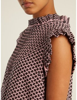 Dubtribe Scarf Jacquard Cotton Top by Cecilie Copenhagen