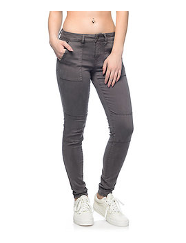 Empyre Jordyn Charcoal Sateen Seam Skinny Pants by Empyre