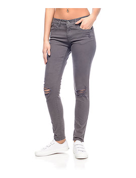 Empyre Tessa Charcoal Destroyed Skinny Jeans by Empyre