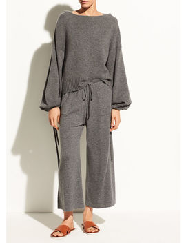 Scrunch Sleeve Wool And Cashmere Crop Hoodie by Vince