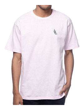 A Lab Cellie Embroidered Pink T Shirt by A Lab