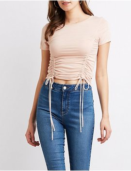 Ruched Fitted Tee by Charlotte Russe