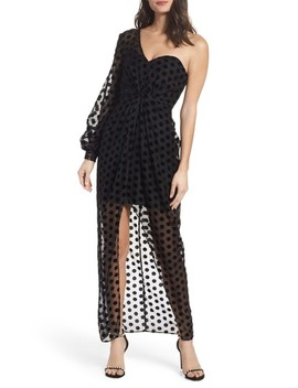 Exhale One Shoulder Polka Dot Dress by Keepsake The Label