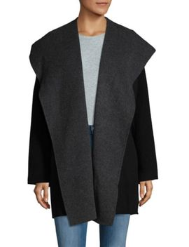 Hooded Shearling Coat by Vince