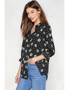 Spring Is In The Air Polka Dot Shirt by Nasty Gal