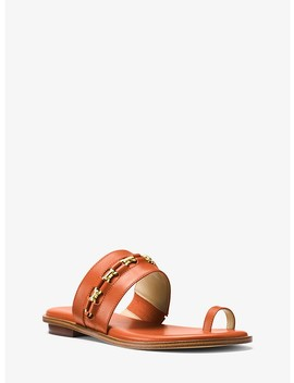 Sadie Embellished Leather Sandals by Michael Michael Kors