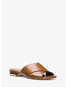 Shelly Leather Slide by Michael Michael Kors