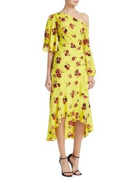 Florence Floral Silk Midi Dress by A.L.C.