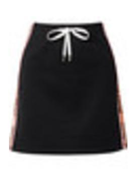 Striped Cotton Blend Mini Skirt by Miu Miu
