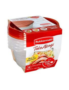 Rubbermaid Take Alongs Food Storage Containers (Set Of 4), 3.2 Cups, Bowls by Rubbermaid