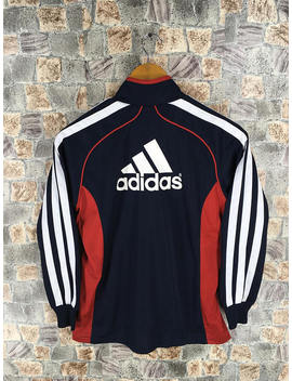 Adidas Three Stripes Track Top Jacket Ladies Small Vintage 90's Adidas Sportswear Windbreaker Adidas Outfit Sports Women Jacket Size S by Etsy