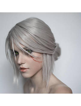 Made To Order: Ciri (Cirilla) Cosplay Wig From Witcher 3 Wild Hunt Grey Silver by Etsy