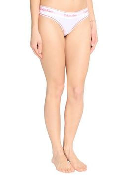 Cotton Blend Jersey Low Rise Thong by Calvin Klein