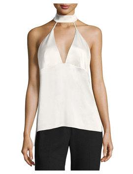 Maurleen Silk Halter Top by Neiman Marcus
