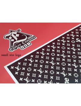 Lv Supreme Logo Pattern Stencil by Evylay Customs