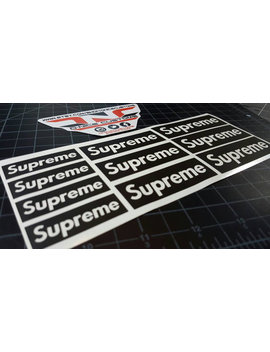 Supreme Logo Stencil by Etsy