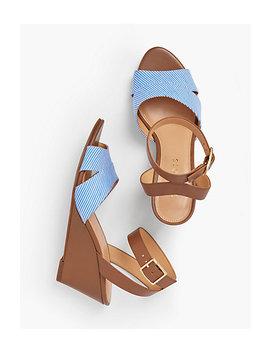 Vivian Wedge Sandals   Cotton by Talbots