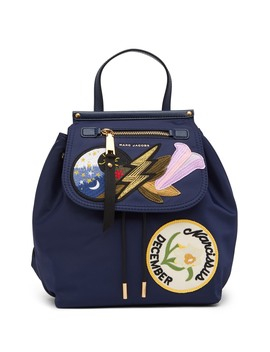 Embroidered Patch Backpack by Marc Jacobs