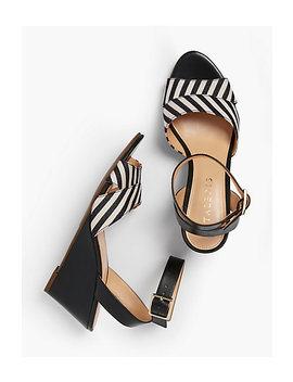 Vivian Wedge Sandals   Yarn Dyed Stripe by Talbots