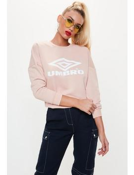 Umbro X Missguided Pink Drop Shoulder Batwing Jumper by Missguided