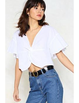 Get It Twisted Crop Top by Nasty Gal