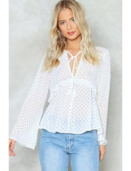You'll Ruffle Something Up Polka Dot Blouse by Nasty Gal