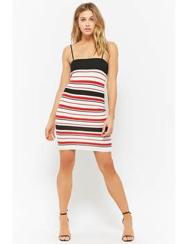Striped Cami Dress by F21 Contemporary