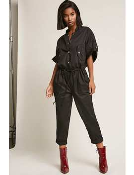 Button Front Jumpsuit by F21 Contemporary