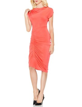 Ruched Jersey Midi Dress by Vince Camuto