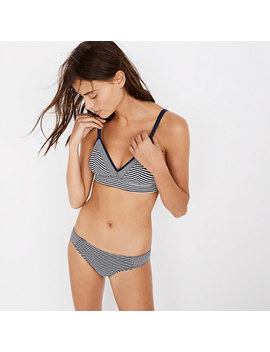 Cotton Modal® Kerri Longline Bralette In Stripe Mix by Madewell