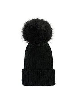 Women's Winter Trendy Warm Faux Fur Pom Pom Fashion Knit Beanie Hats Mm3003 by Fashion 21