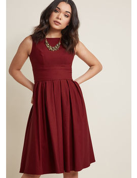 Certified Stunner Midi Dress In Burgundy Certified Stunner Midi Dress In Burgundy by Modcloth