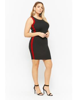 Plus Size Side Striped Bodycon Dress by Forever 21