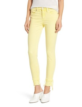 The Reade Classic Crop Raw Edge Double Hem Jeans by Blanknyc