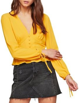 Ochre Tea Tied Sleeve Top by Miss Selfridge