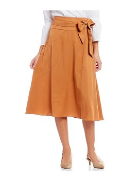 Cremieux Lou Front Bow Midi Skirt by Cremieux