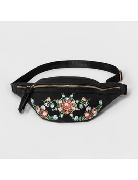 Women's Violet Ray Embroidered Fanny Pack Belt Bag by Violet Ray