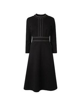 L.K. Bennett Cinta Stitch Detail Dress, Black by L.K.Bennett
