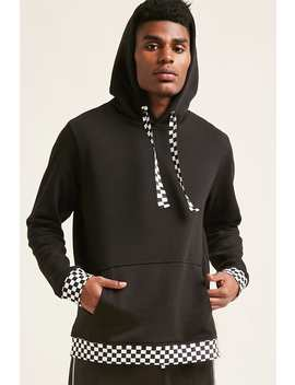 Checkered Trim Hoodie by Forever 21