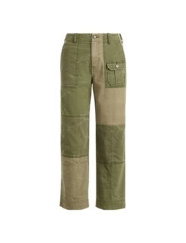 Patchwork Cotton Chino Pant by Ralph Lauren