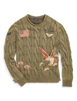 Embroidered Cable Sweater by Ralph Lauren