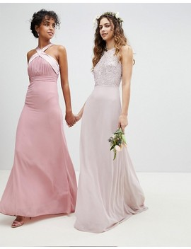 Tfnc Lace Up Back Maxi Bridesmaid Dress by Tfnc