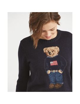 Polo Bear Cotton Linen Sweater by Ralph Lauren