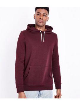 Burgundy Pocket Front Hoodie by New Look