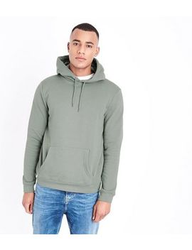 Olive Pocket Front Hoodie by New Look