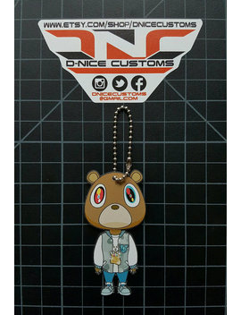 College Dropout Bear Hangtag/Keychain by Etsy